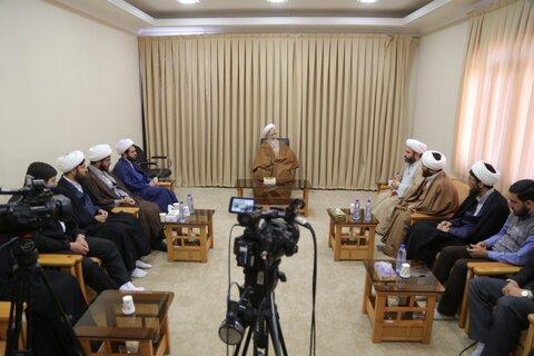 حضرت آیت الله جوادی آملی در دیدار جمعی از اعضای موسسه قرآنی فرهنگی بیت الاحزان حضرت زهرا
