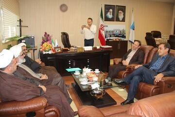 استقبال مدیر عامل شرکت آب منطقه ای قزوین از همکاری با حوزه های علمیه