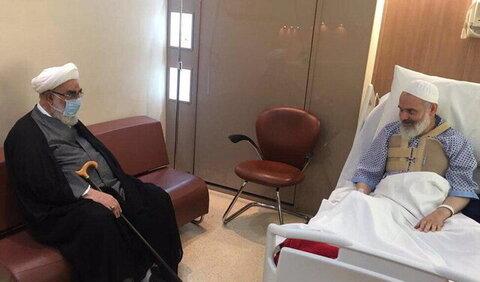 عیادت رئیس دفتر مقام معظم رهبری از آیتالله حسینی بوشهری