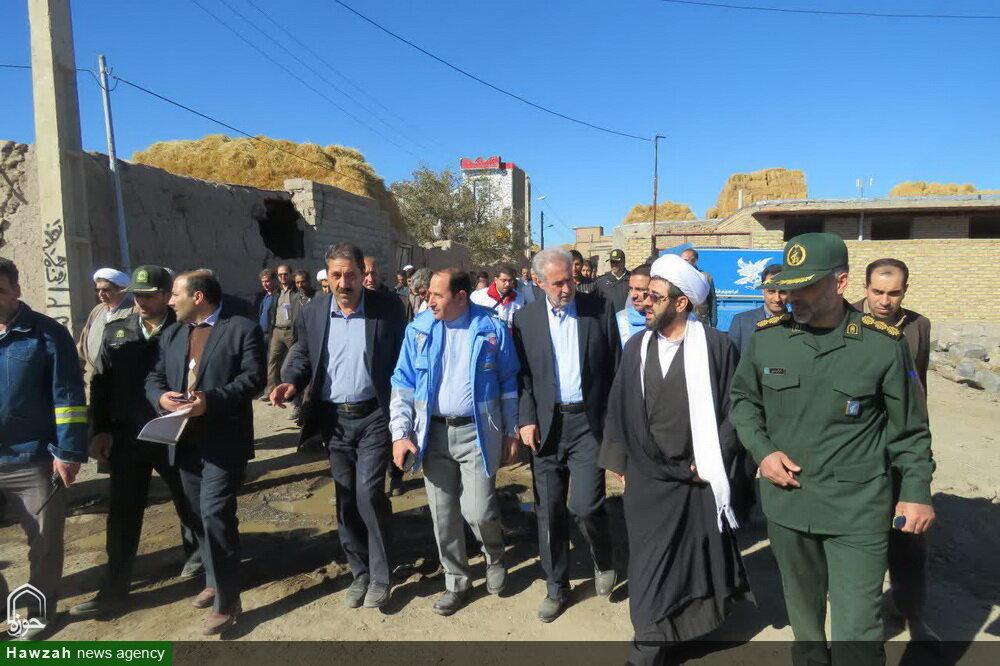 تصاویر/ حضور مسئولان شهرستان سراب در روستای زلزله زده دونیق
