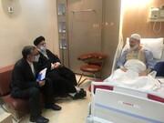 رئیس قوه قضائیه از آیتالله حسینی بوشهری عیادت کرد