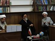 نشست امام جمعه تبریز با اساتید مدرسه ولیعصر(عج)+ عکس