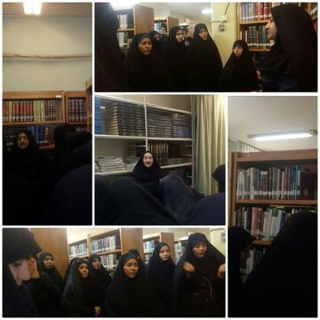 بازدید طلاب مدرسه فاطمه الزهرا (س) اصفهان از یک کتابخانه