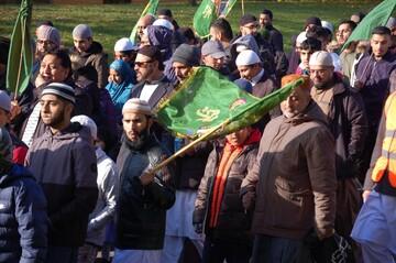 راهپیمایی مسلمانان بلکبرن به مناسبت میلاد نبی اکرم(ص) + تصاویر
