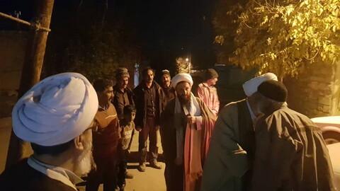 تصاویر/ حضور امام جمعه میانه در روستاهای زلزله زده