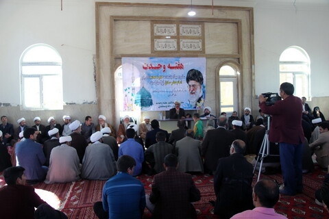 تصاویر/ گردهمایی روحانیون شیعه و سنی خراسان شمالی