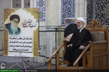 بالصور/ مجلس تأبين لآية الله العظمى السيد بهاء الديني في المسجد الأعظم بقم المقدسة