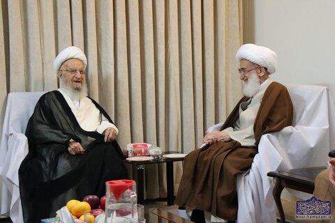 عکس/ دیدار آیات عظام مکارم شیرازی و نوری همدانی