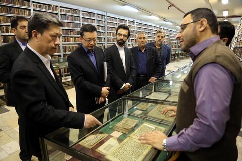 تصاویر/ حضور رئیس مسلمانان چین در شهر مقدس قم