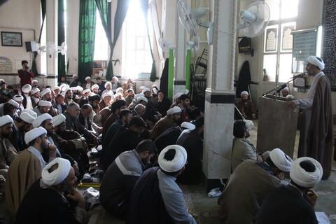 تصاوی/ گردهمایی طلاب و روحانیون همدانی مقیم قم