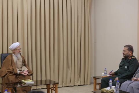 تصاویر/ دیدار سردار سلیمانی رییس سازمان بسیج مستضعفین با مراجع و شخصیت های حوزوی