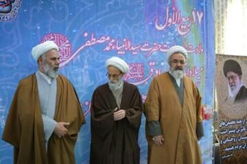 تصاویر/ جشن عمامه گذاری طلاب حوزه علمیه مراغه