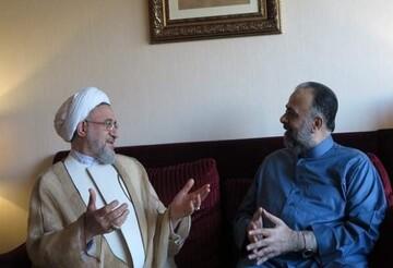 وزیر اوقاف سوریه با آیت الله اراکی دیدار کرد