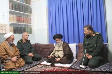 بالصور/ رئيس منظمة التعبئة للمستضعفين يلتقي بمراجع الدين وشخصيات دينية بقم المقدسة