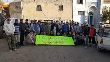 گروه جهادی سالار شهیدان در روستاهای زلزله زده میانه به روایت تصویر
