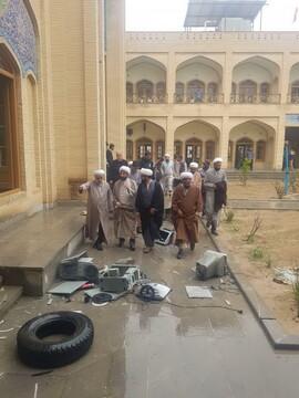 مدیر حوزه علمیه فارس از مدرسه صالحیه کازرون بازدید کرد