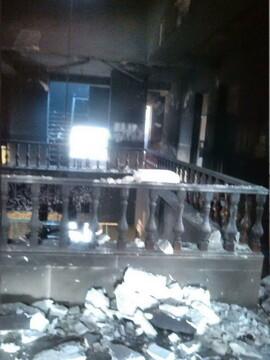آتش شرارت آشوبگران به جان مدرسه علمیه خواهران فردیس افتاد+ عکس