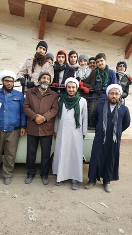سردار حاج حسین یکتا در جمع تعدادی از جهادگران گروه جهادی حوزه سالار شهیدان تبریز