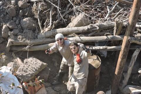 طلبه های دوقلو... از اعضای گروه جهادی حوزه علمیه سالارشهیدان