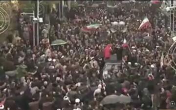 فیلم  حرکت خودجوش مردم بصیر زنجان در محکومیت اخلالگران