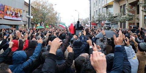راهپیمایی مردم زنجان