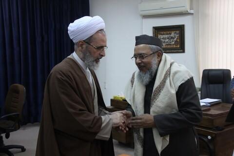 تصاویر/ دیدار جمعی از علمای هند با آیت الله اعرافی