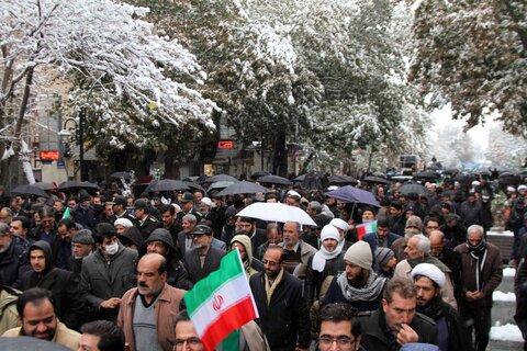 راهپیمایی مردم همدان