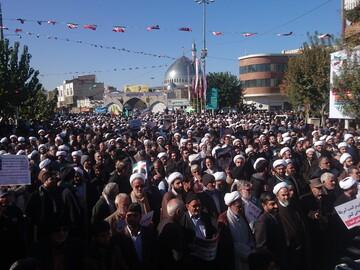 راهپیمایی مردم شهرمقدس قم در حمایت از مواضع رهبر انقلاب آغاز شد