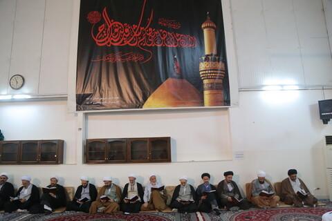 تصاویر/ مراسم ترحیم مرحوم سید عبدالله شرف الدین از سوی آیت الله العظمی سبحانی