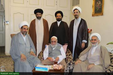 عمل به رسم دیرینه حوزوی ؛ مسئولان حوزه اصفهان به دیدار استاد خود رفتند+ عکس