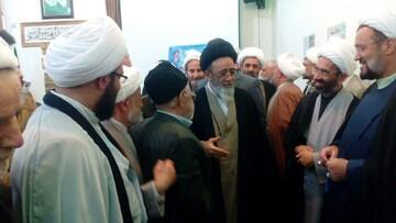 تصاویر/ مراسم گرامیداشت هفته بسیج در مدرسه علمیه طالبیه تبریز