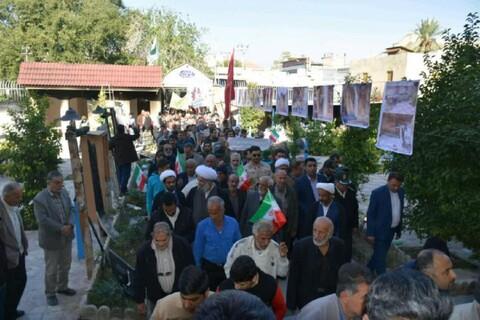 تصاویر/ راهپیمایی مردم کازرون در حمایت از اقتدار و امنیت کشور