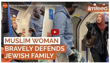 شجاعت زن مسلمان در متروی لندن، تحسین مردم را برانگیخت