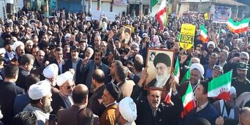 راهپیمایی محکومیت اغتشاشات اخیر در ۱۸ نقطه مازندران