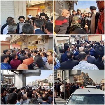 بازدید میدانی امام جمعه اهواز از وضعیت رانندگان