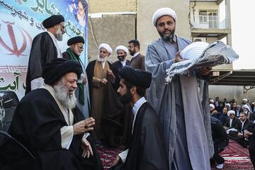 تصاویر/ عمامه گذاری طلاب مدرسه علمیه المهدی(عج) زرگان