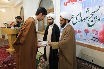 تصاویر/ مراسم بزرگداشت هفته بسیج در مدرسه علمیه امام خمینی (ره) خوی
