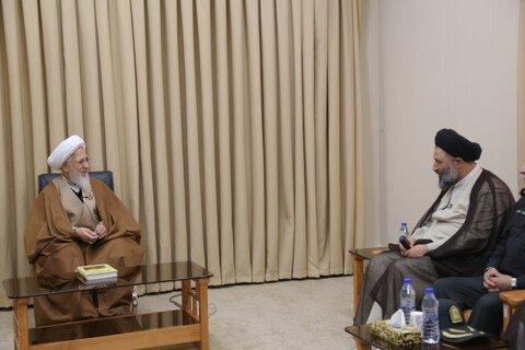دیدار رئیس عقیدتی سیاسی ناجا با آیت الله العظمی جوادی آملی