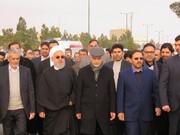 مراسم تشییع پیکر همشیره رئیس جمهور برگزار شد