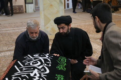 مراسم وداع با پیکر مرحوم آیت الله سید ابوالفضل میرمحمدی در مسجد معصومیه قم
