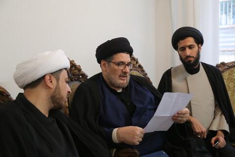 حضور علما و شخصیت ها در بیت مرحوم آیت الله میرمحمدی