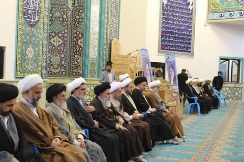 تصاویر/ تجمع طلاب و روحانیون حوزههای علمیه شیراز در حمایت از اقتدار و امنیت کشور