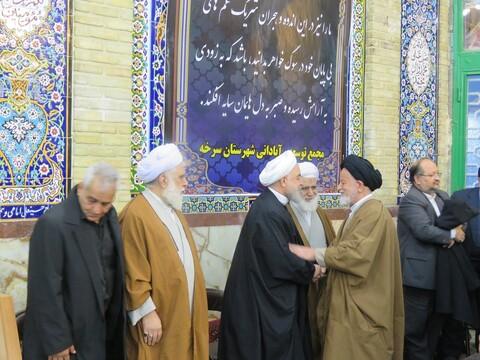 تصاویر/ مراسم تشییع و ترحیم همشیره رئیس جمهور در سرخه