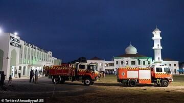 پذیرایی از آتش نشانان در ۳۰ امین سالگرد تاسیس مسجدی در سیدنی