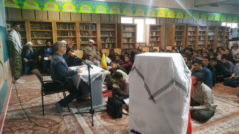 تصاویر/ مراسم بزرگداشت هفته بسیج در مدرسه علمیه دارالسلام تهران
