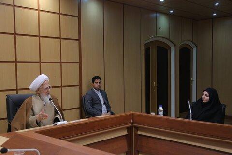 حضرت آیت الله جوادی آملی در دیدار دکتر سیماسادات لاری معاون فرهنگی و دانشجویی وزیر بهداشت