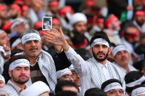 دیدار جمعی از بسیجیان سراسر کشور با رهبر انقلاب