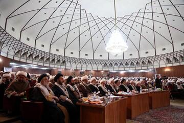 تصاویر/ نشست مشترک مجمع نمایندگان طلاب، بسیج اساتید و نخبگان حوزه