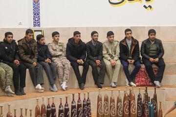 تصاویر/ حضور طلاب و اساتید مدرسه علمیه امام خمینی (ره) خوی در زورخانه
