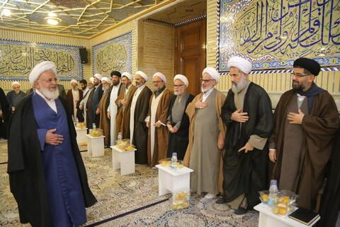 تصاویر / حضور آیت الله ناصری در جلسه طلاب و فضلای استان یزد در قم
